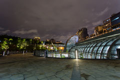 Daan Park MRT station night view Stock Images