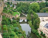 De keuken-tuinen in Luxemburg Stock Afbeeldingen
