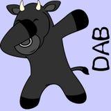 Dab dabbing pose bull kid cartoon royalty free illustration