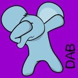 Dab dabbing pose elephant kid cartoon royalty free illustration