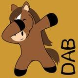 Dab dabbing pose horse kid cartoon royalty free illustration