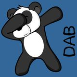 Dab dabbing pose panda bear kid cartoon vector illustration