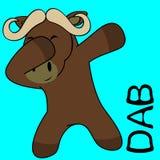 Dab dabbing pose oxen kid cartoon royalty free illustration