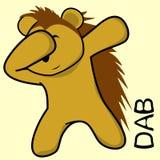 Dab dabbing pose porcupine kid cartoon vector illustration
