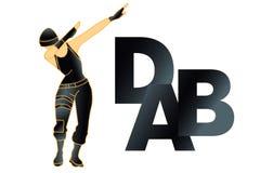 DAB dance, t shirt. Vectorn. DAB dance, t shirt. Vector royalty free illustration