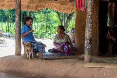 DABANA, SRI LANKA - CIRCA DICEMBRE 2016: Uomini di Vedda Fotografie Stock Libere da Diritti