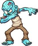 Dabbing cartoon zombie Stock Image