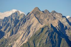 The Dabernitzkogel in the austrian national park Hohe Tauern. Venedigergruppe Royalty Free Stock Photos