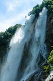 Dabie Mountain in Anhui Yuexi scenery scenic Rainbow Falls Royalty Free Stock Image