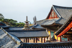 Dabotap και κορεατική παλαιά αρχιτεκτονική, παγκόσμια κληρονομιά της ΟΥΝΕΣΚΟ ναών Bulguksa σε Gyeongju, Κορέα στοκ εικόνες με δικαίωμα ελεύθερης χρήσης