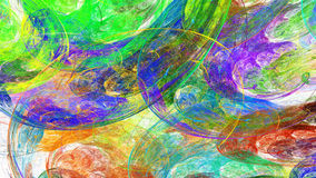 Dabs of paint. Swirling clouds. Royalty Free Stock Photo