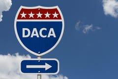 DACA usa autostrady międzystanowej znak obrazy stock