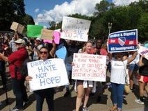 Dacaprotesteerders in Washington DC stock afbeeldingen