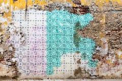 Dachówkowa ściana Fotografia Stock