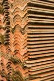 Dachówkowa glina jest kreskowa obrazy stock