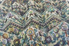 Dachówkowa sztuka Tajlandzka pagoda przy Uroczystym pałac Zdjęcia Stock
