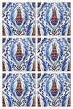 dachówkowa tulipanów turkish ściana Zdjęcie Stock