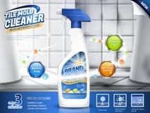 Dachówkowe foremki cleaner reklamy royalty ilustracja