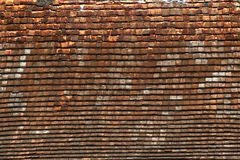 Dachówkowego dachu tekstura Fotografia Royalty Free