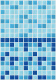 Dachówkowego mozaika kwadrata tekstury błękitny tło dekorował z błyskotliwością Obraz Stock