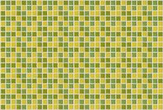 Dachówkowej mozaika kwadrata zieleni tekstury żółty tło Zdjęcia Royalty Free