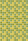 Dachówkowej mozaika kwadrata zieleni tekstury żółty tło Zdjęcie Royalty Free