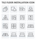 Dachówkowej podłoga ikona royalty ilustracja