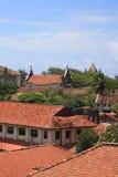 Dachówkowi dachy, wichura, Sri Lanka Obrazy Royalty Free