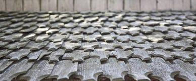 Dachówkowy dach zdjęcie royalty free