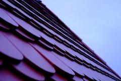 Dachówkowy dach, beton Obraz Stock