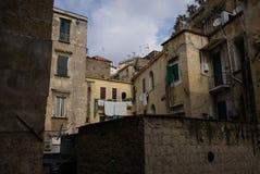 Dachówkowy dach, Naples, Włochy zdjęcia royalty free