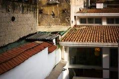 Dachówkowy dach, Naples, Włochy obrazy stock