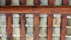 Dachówkowy i dachowy promień Fotografia Stock