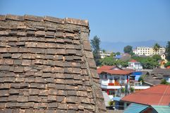Dachówkowy Lanna antyczny dom Fotografia Stock