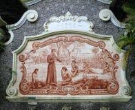 Dachówkowy obraz fontanny Sao Vincente Brazylia Obrazy Royalty Free