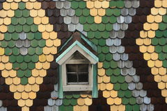 dachówkowy okno Zdjęcia Royalty Free