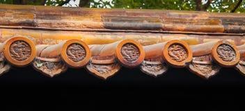 Dachówkowy szczegół stary chińczyka dach Zdjęcie Royalty Free
