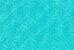 Dachówkowy tekstury tło łazienki lub pływackiego basenu płytki na wa Obrazy Royalty Free
