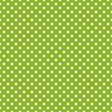 Dachówkowy wektoru wzór z białymi polek kropkami na zielonym tle Zdjęcia Royalty Free
