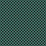 Dachówkowy wektoru wzór z czarnymi polek kropkami na zielonym tle Obrazy Stock