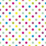 Dachówkowy wektoru wzór z pastelowymi polek kropkami na białym tle Zdjęcia Royalty Free