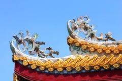 Dach-Architektur des buddhistischen Tempels stockbild