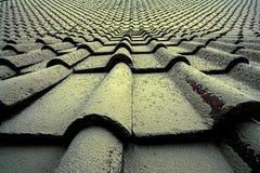 Dach bedeckt mit vulkanischer Asche Lizenzfreies Stockbild