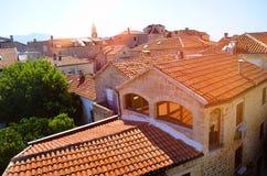 Dach in Budva Stockfoto