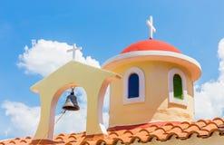 Dach chrześcijaństwo kościół w Grecja fotografia royalty free