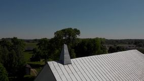 Dach der catholical Kirche stock video