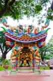 Dach der chinesischen Art im Stadt-Säulen-Schrein Lizenzfreies Stockbild