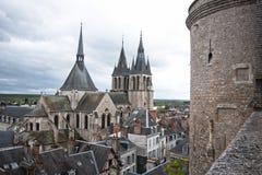 Dach der Kathedrale St. Louis in Blois Lizenzfreies Stockfoto