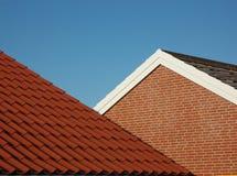 Dach der roten Fliese Stockbild