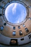 Dach der Stadt von St Petersburg Russland glättend Lizenzfreies Stockfoto